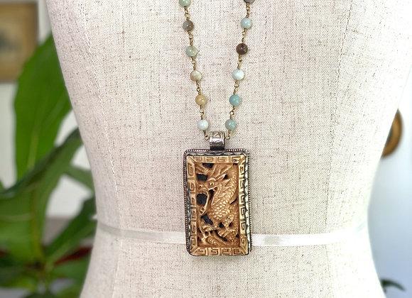 Tibetan Dragon Necklace