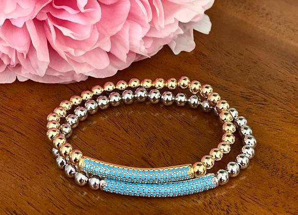 Turquoise Bar Bracelet
