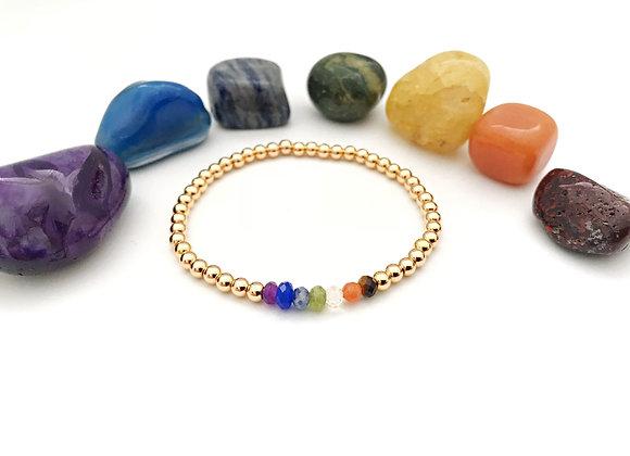 Gold Bead Chakra Bracelet