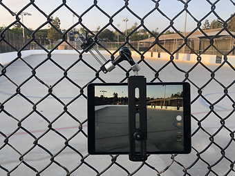 FenceClip Tablet Fence Mount filming Hockey