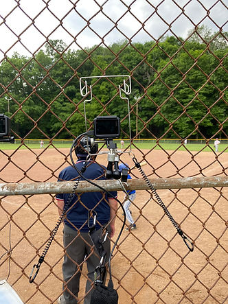 FenceClip NetCam Filming Baseball from Chain Link Fence