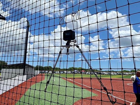 NetCam Filming Baseball from Net Backstop