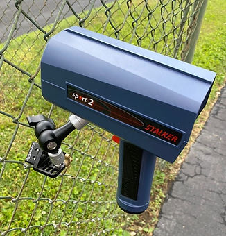 Stalker Radar on FenceClip for Baseball