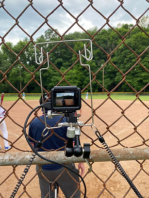netcam and gopro filming baseball umpire
