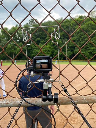 netcam and gopro filming baseball umpire