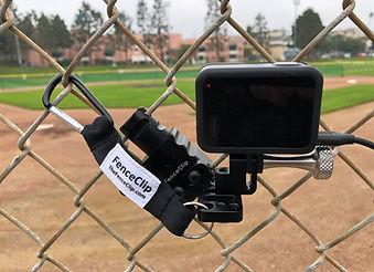 Backstop Mount for Camera to Stream Baseball
