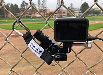 Backstop Mount for Camera to Stream Baseball