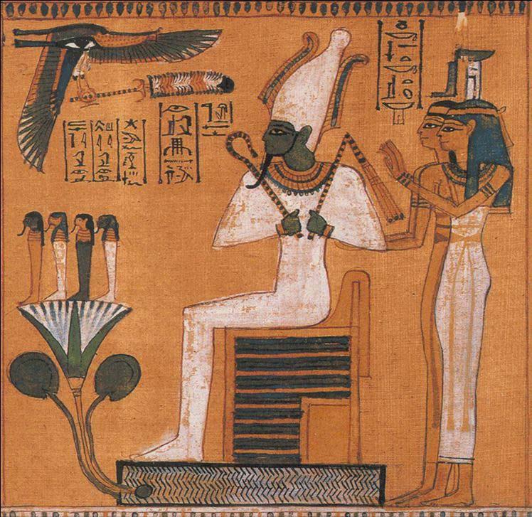 Osiris, the first Paraoh of Egypt