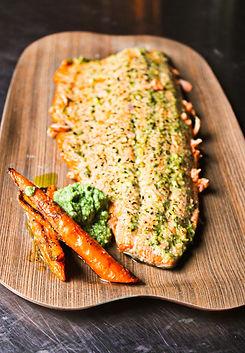 Carrot Top Pesto smothered Wild Salmon.jpg
