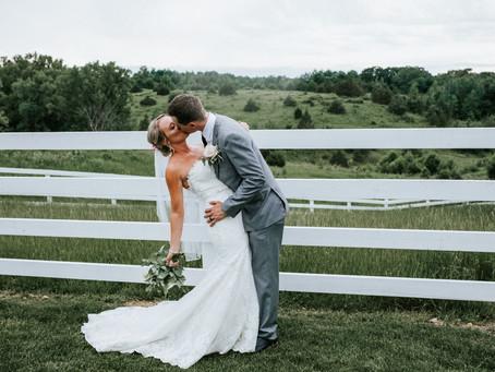 Modern Minnesota Farm Wedding