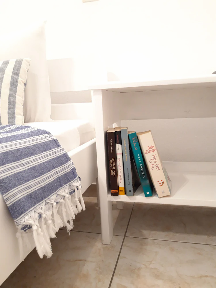 White, blue...and just a book!