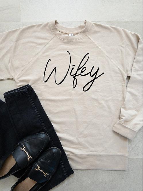 """Wifey"" Beige and Black"