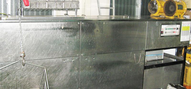 3槽式超音波洗浄機(メチレンクロライド)