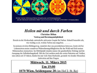 WFWP Austria invites to this interesting workshop 'Healing through Colours', taking place on 11 Marc