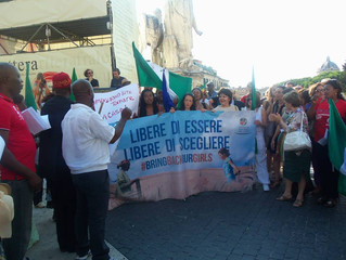 WFWP Italy, Bring Back Our Girls, March in Rome