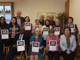 WFWP Austria with the Peace Ambassadors in support of  'I am Charlie'.
