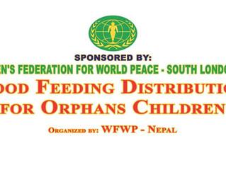 Food distribution program to orphaned children