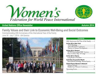 Autumn 2014 WFWPI UN Newsletter