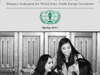 WFWP Youth Europe, Young Women's Newsletter - Spring 2015.