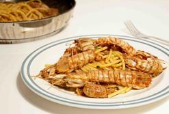 Spaghetti con le canocchie