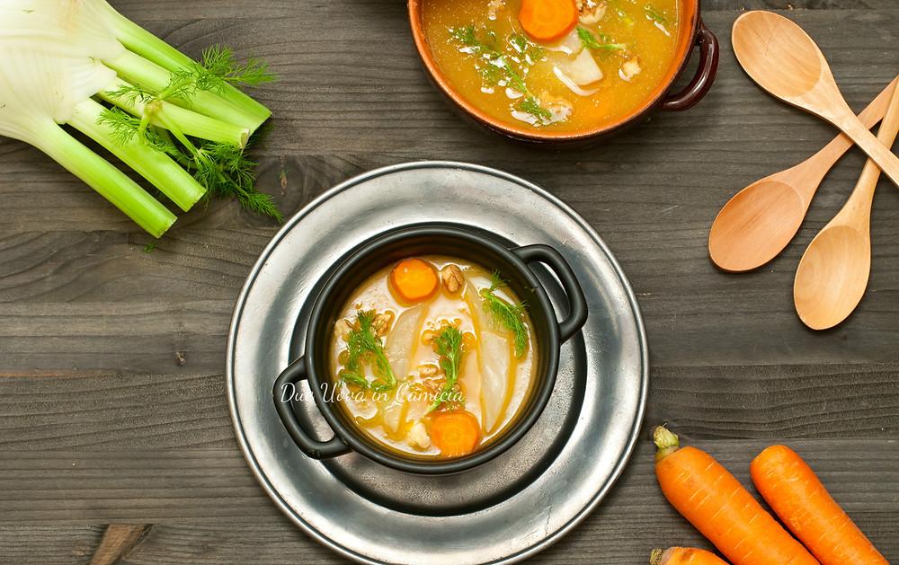 Crema di finocchi e carote