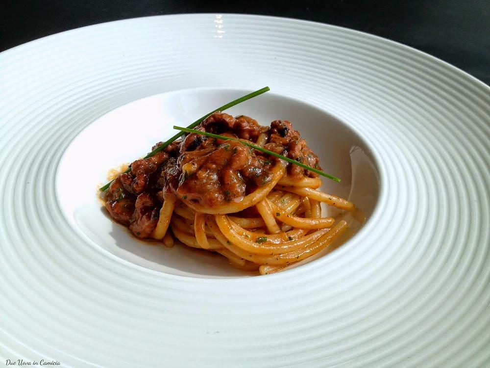 Spaghetto Cavallieri al ragù di moscardini