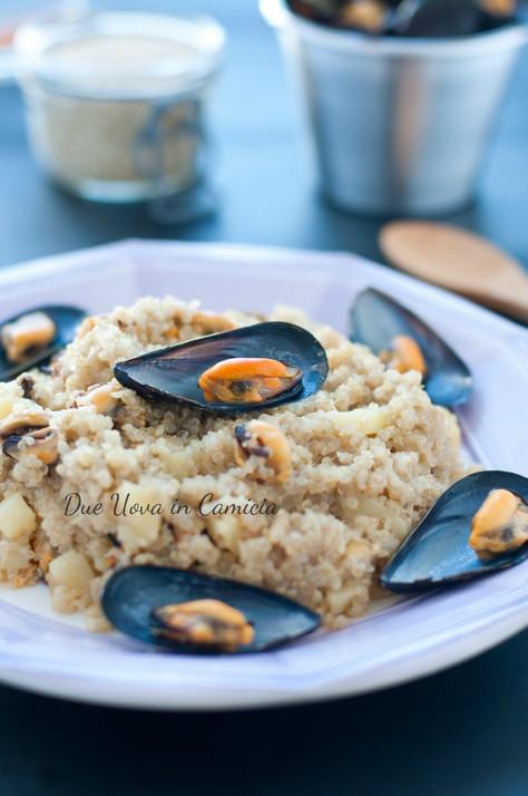 Quinoa con Cozze e Patate