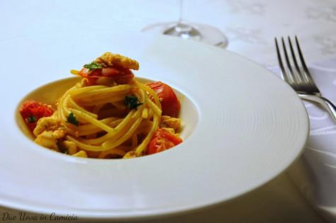 Spaghetti con Ragu' di Gallinella di Mare