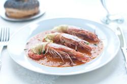 Gamberoni in Salsa Bisquet