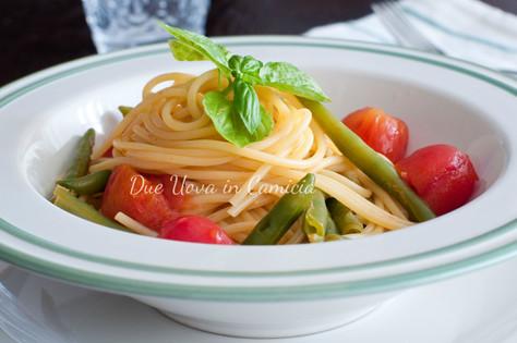 Spaghetti con Fagiolini e Pomodorini