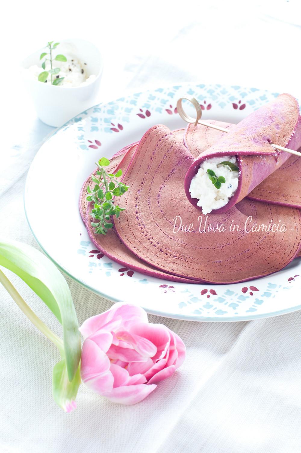 Crêpes Salate alla Barbabietola Rossa