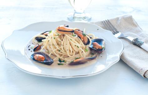 Spaghetti con Fagioli Cannellini e Cozze