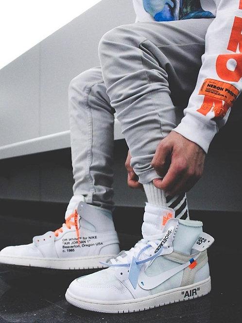 Nike air Jordan 1 off white белые