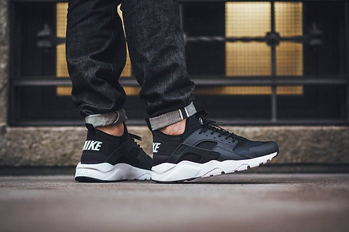 Nike air huarache ultra черно-белые