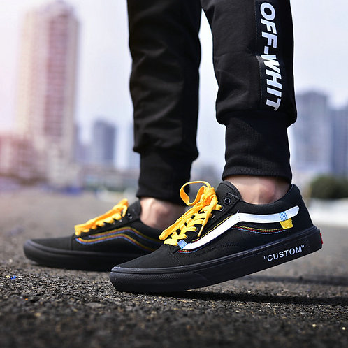 Vans old skool off white черные