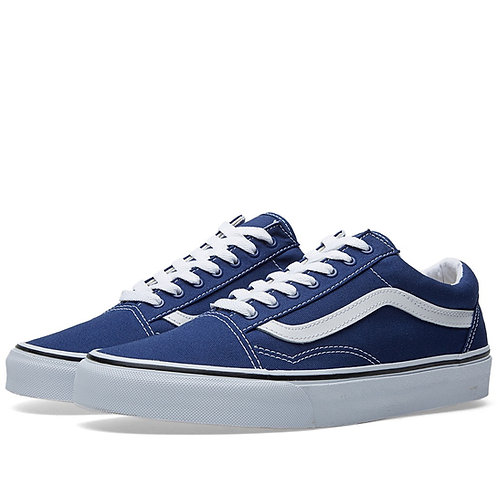 Vans old skool синие низкие