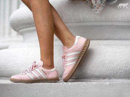 Adidas Hamburg розово-белые