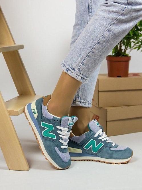 New balance 574 сине-зеленые