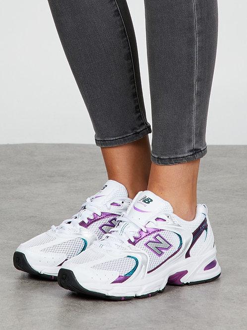 New balance 530 белые с фиолетовым