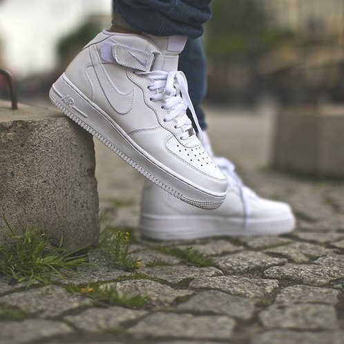 Nike air force белые высокие