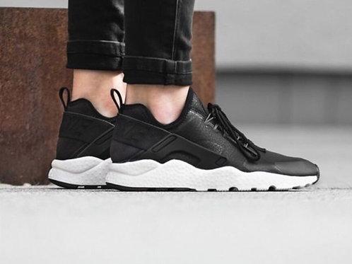 Nike air huarache ultra черно-белые кожаные