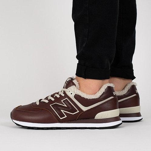 New balance 574 коричневые (С МЕХОМ)