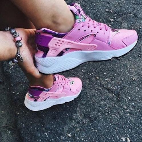 Nike air huarache розовые