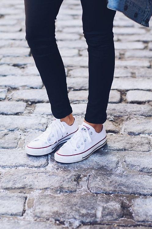 Converse белые низкие
