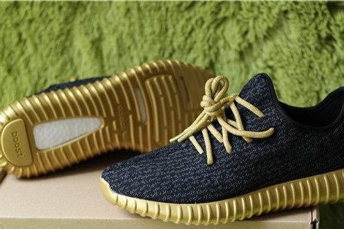 Adidas yeezy boost 350 черно-золотые
