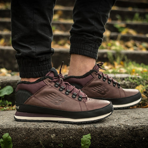 New balance 754 темно-коричневые (С МЕХОМ)