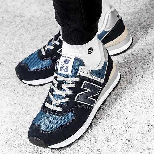 New balance 574 синие 2