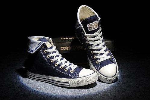 Converse синие высокие