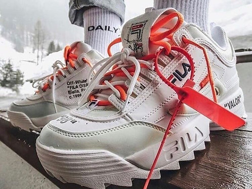 Fila disruptor off white