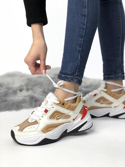Nike M2K tekno white gold